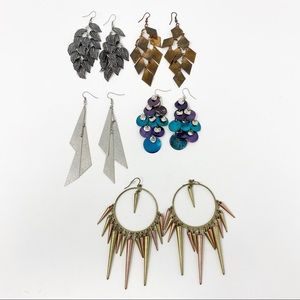 Bundle of 5 Pairs of Fashion Earrings